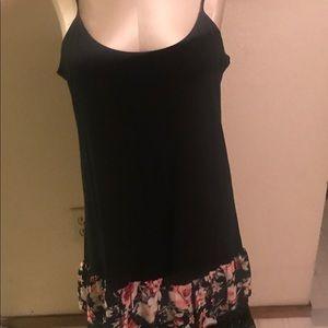 Boutique black dress with ruffle XLarge